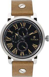 Titan 90049SL03 Spring Summer Analog Black Dial Men's Watch (90049SL03)