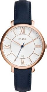 Fossil ES3843 Jacqueline Analogue Rose Gold Dial Women's Watch (ES3843)