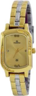 Maxima 41423CMLT Analog Gold Dial Women's Watch (41423CMLT)