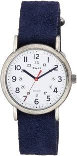 Timex T2P348 Analog White Dial Unisex Watch