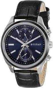 Titan Neo 1733KL01 Analog Blue Dial Men's Watch (1733KL01)