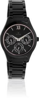 Titan 2570NM01 Chronograph Black Dial Women's Watch (2570NM01)