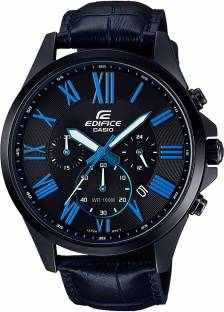 Casio Edifice EFV-500BL-1BVUDF (EX345) Analog Black Dial Men's Watch (EFV-500BL-1BVUDF (EX345))