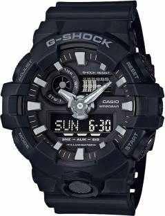 Casio G-Shock GA-700-1BDR (G715) Analog Digital Black Dial Men's Watch (GA-700-1BDR (G715))