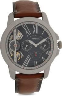 Fossil ME1161 Townsman Dark Brown Blue Analog Men's Watch (ME1161)