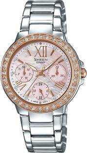 Casio Sheen SHE-3052SG-4AUDR (SX188) Analog Red Dial Women's Watch (SHE-3052SG-4AUDR (SX188))