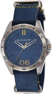 Giordano A1050-02 Blue Dial Analog Men's Watch (A1050-02)
