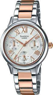 Casio Sheen SHE-3049SPG-7AUDR (SX190) Analog Silver Dial Women's Watch (SHE-3049SPG-7AUDR (SX190))