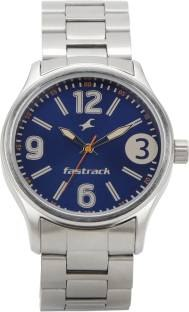 Fastrack 3001SM06 Bare Basics Analog Blue Dial Men's Watch (3001SM06)