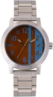 Fastrack 3162SM02 Brown & Blue Analogue Men's Watch (3162SM02)