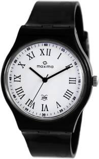Maxima 39053PPGW Analog White Dial Unisex Watch (39053PPGW)