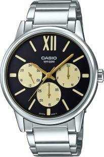 Casio Enticer MTP-E312D-1B1VDF (A1201) Silver Black Analog Men's Watch (MTP-E312D-1B1VDF (A1201))