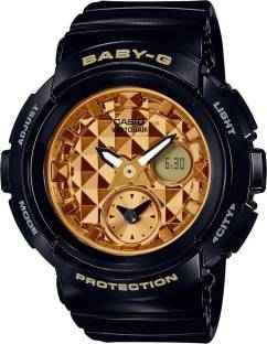 Casio Baby-G BGA-195M-1ADR (B181) Analog Digital Gold Dial Women's Watch (BGA-195M-1ADR (B181))