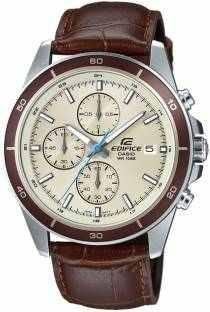 Casio EFR-526L-7BVUDF (EX303) Chronograph Beige Dial Men's Watch (EFR-526L-7BVUDF (EX303))