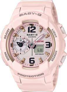 Casio Baby-G B185 Pink Analogue & Digital Women's Watch (B185)