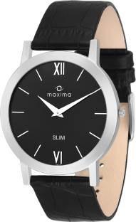 Maxima 42122LMGID Attivo Analog Gold Dial Men's Watch (42122LMGID)