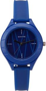 Sonata 87023PP02 Color Pop Analog Blue Dial Women's Watch (87023PP02)