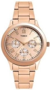 Timex TW000Q810 Analog Gold Dial Women's Watch (TW000Q810)