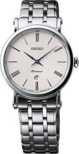 Seiko SXB429P1 Premier Analog White Dial Women's Watch (SXB429P1)