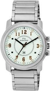 Maxima 34860CMGI Attivo Analog Silver Dial Men's Watch (34860CMGI)