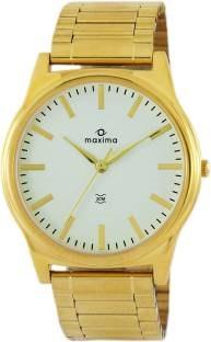Maxima 34750CMGY Gold Analog White Dial Men's Watch (34750CMGY)