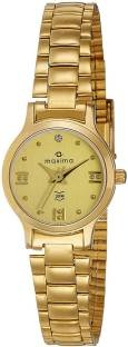 Maxima 01598CMLY Analog Gold Dial Women's Watch (01598CMLY)