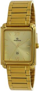 Maxima 40072CMGY Gold Dial Analog Men's Watch (40072CMGY)
