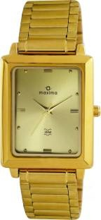 Maxima 40052CMGY Analog Champagne Dial Men's Watch (40052CMGY)