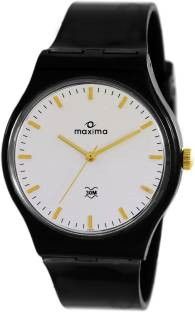 Maxima 39057PPGW Analog White Dial Men's Watch (39057PPGW)