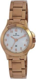 Maxima 43052CMLR White Dial Analog Women's Watch (43052CMLR)