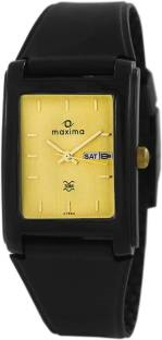 Maxima 07593PPGW Analog Champagne Dial Men's Watch
