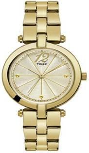 Timex TW000Z200 Analog Gold Dial Women's Watch (TW000Z200)