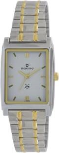 Maxima 43345CMGT Analog White Dial Men's Watch (43345CMGT)