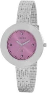Maxima 44900CMLI Analog Pink Dial Women's Watch (44900CMLI)