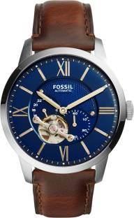 Fossil ME3110 Townsman Analog Blue Dial Men's Watch (ME3110)