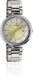 Titan NF2480BM02J Analog Gold Dial Women's Watch (NF2480BM02J)