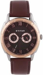Titan 1489KL02 Smartsteel Analog Brown Dial Men's Watch (1489KL02)