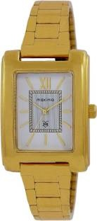 Maxima 43462CMLY Analog White Dial Women's Watch (43462CMLY)