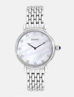 Seiko SFQ807P1 Analog Mother Of Pearl Dial Women's Watch (SFQ807P1)