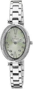Titan 95025SM03 Spring Summer Analog Green Dial Women's Watch (95025SM03)