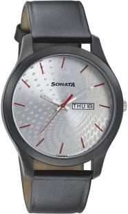 Sonata 77063NL02 Analog Black Dial Men's Watch (77063NL02)