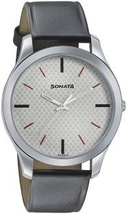 Sonata 77063SL04 Analog Black Dial Men's Watch (77063SL04)