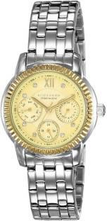 Giordano P2045-11 Gold Dial Analog Men's Watch (P2045-11)