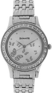 Sonata 8123SM01 Analog Multi Colour Dial Women's Watch (8123SM01)