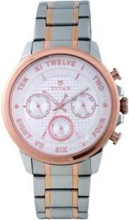 Titan Regalia 1747KM01 Sovereign Analog Silver Dial Men's Watch (1747KM01)