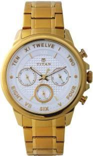 Titan Regalia 1747YM01 Sovereign Analog Silver Dial Men's Watch (1747YM01)