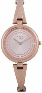 Titan 2581WM01F Analog Rose Gold Dial Women's Watch (2581WM01F)