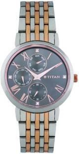 Titan Neo 2569KM03 Analog Grey Dial Women's Watch (2569KM03)