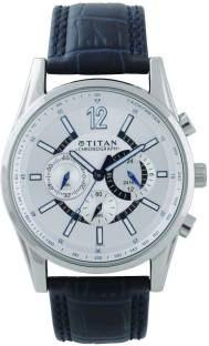 Titan 9322SL10 Classique Analog Silver Dial Men's Watch (9322SL10)