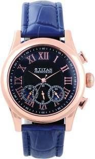 Titan 1562WL02 Classique Analog Blue Dial Men's Watch (1562WL02)